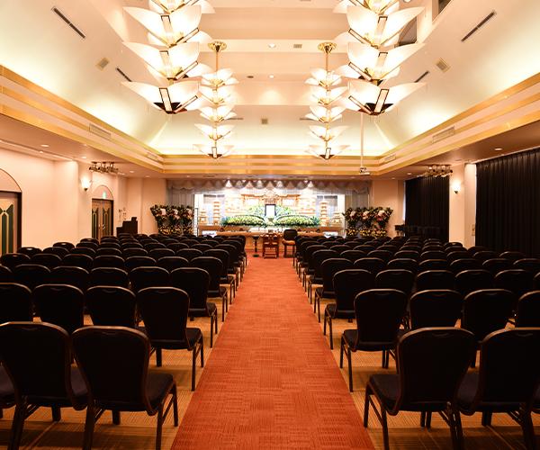 3階ホールは100~200席まで対応可能