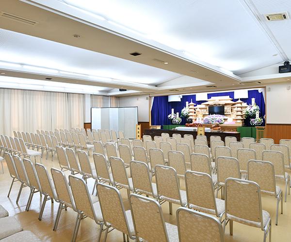 最大200名対応可能なこころ斎苑 牛久の大ホール