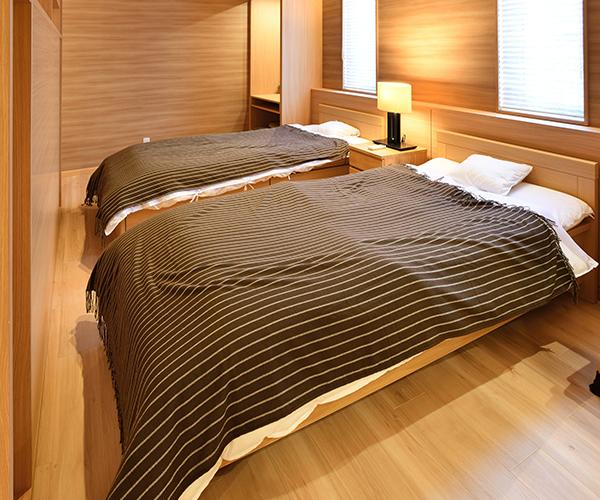 仮眠も取れるベッドルーム